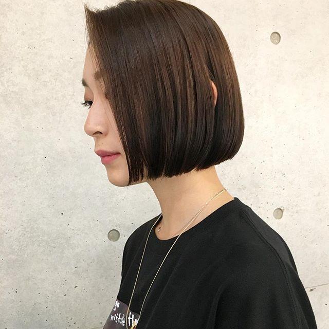前髪なし ナチュラルボブ4