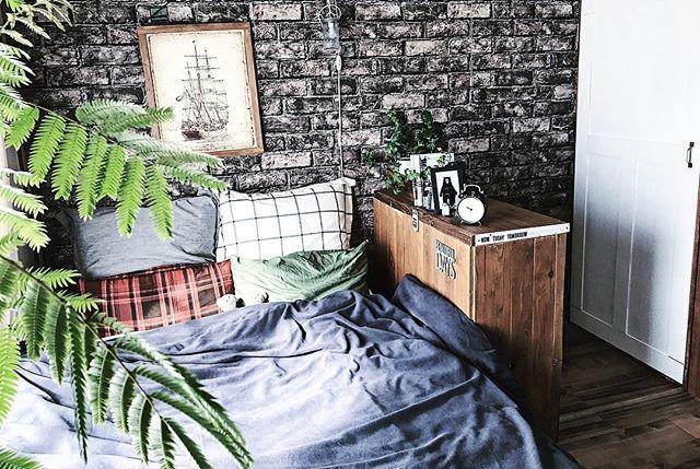 男前な寝室&ベッドレイアウト2