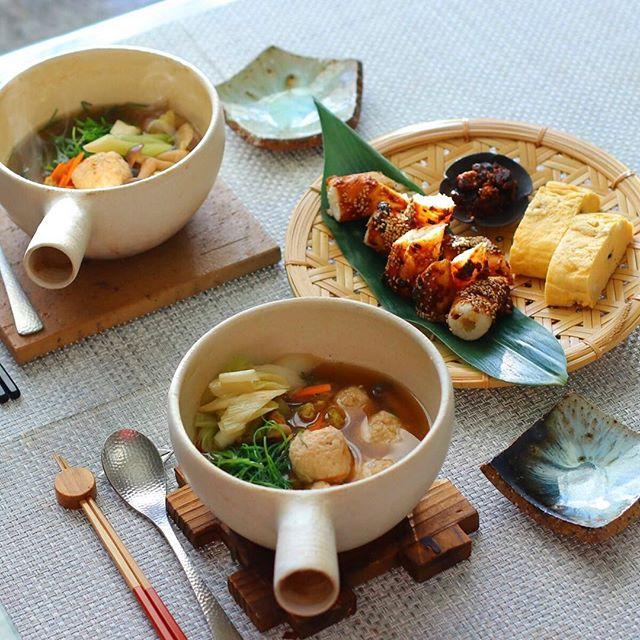 鶏団子の比内地鶏スープ