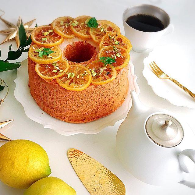 レモンたっぷりシフォンケーキ