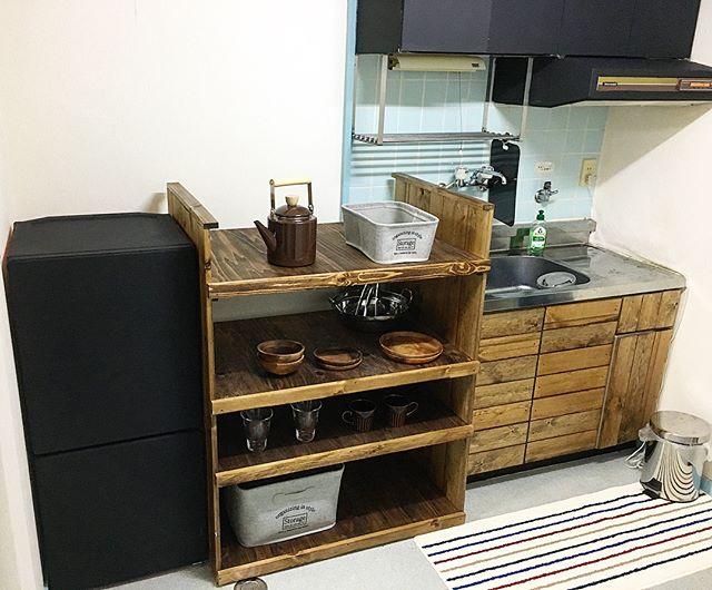 カフェ風キッチンを賃貸で作る2