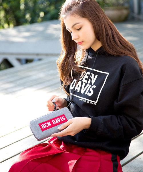 [BENCH AT THE GREENE] BEN DAVIS LONG WALLET BOX LOGO スウェットロングウォレット