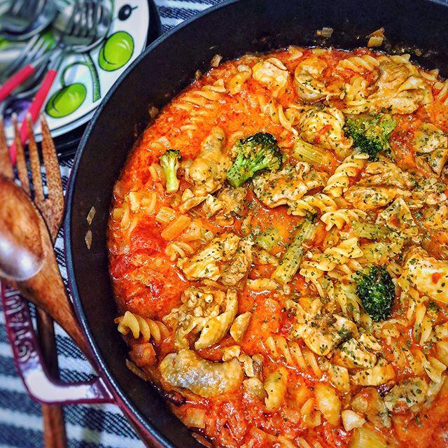 野菜 トマトソース パスタ12