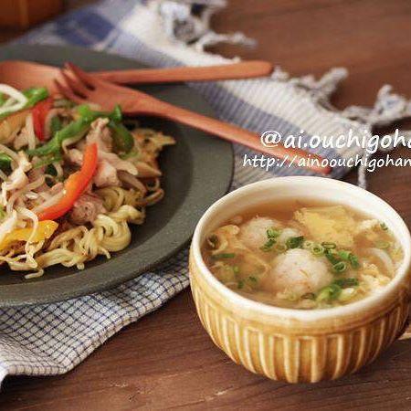 コロッケ 献立 スープ 汁物7