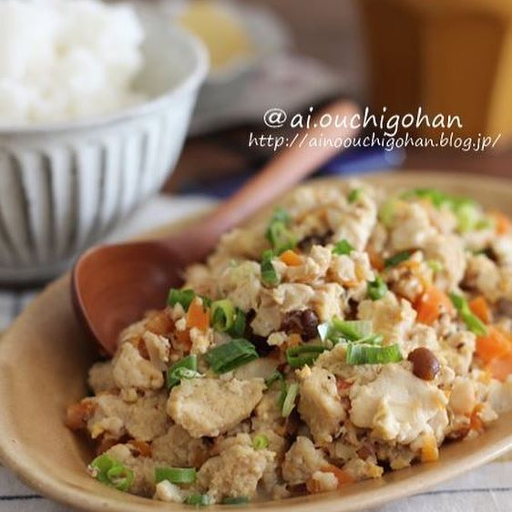 W豆腐のヘルシー炒り豆腐