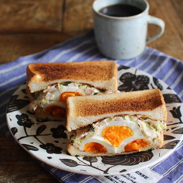 おしゃれ サンドイッチ 卵4