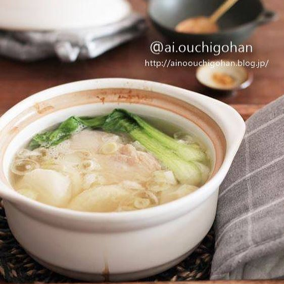 鶏肉と大根のしょうがたっぷり参鶏湯風スープ