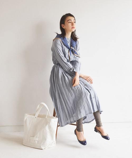 靴下屋/ 2×2リブ 裾メロウレギンス 12分丈