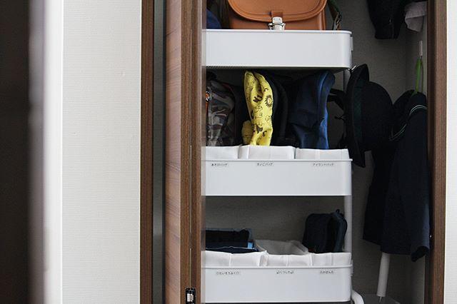 バッグ収納 無印良品 高さが変えられる不織布仕切りケース
