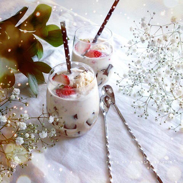 コーヒーゼリーのアイスと牛乳がけ