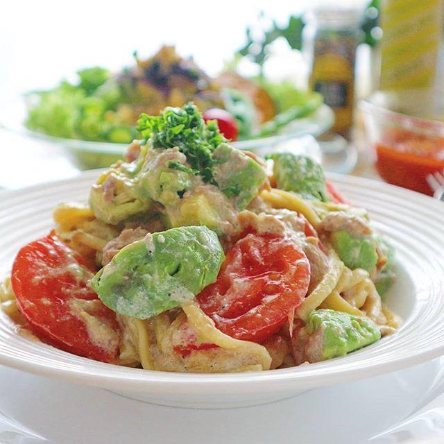 野菜 クリーム ソース パスタ2