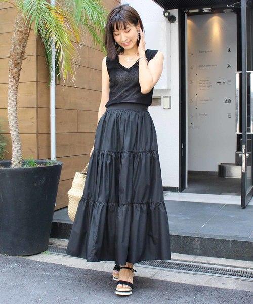 夏の黒スカートコーデ3