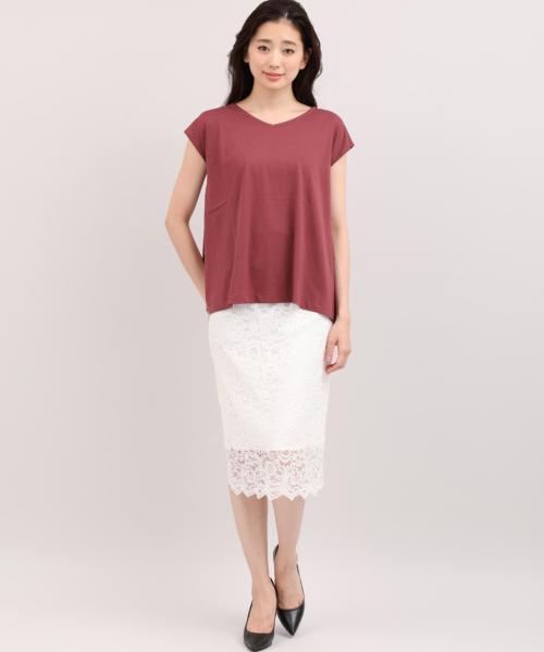 フレンチスリーブAラインTシャツ《30/-スビンソロ天竺》