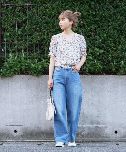 [reca] リゾートスタイルにもぴったり◇花柄 アロハシャツ