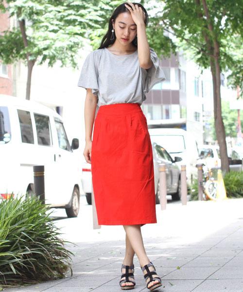 [fellini] カラーナロースカート