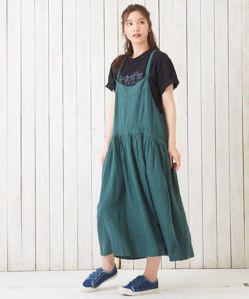 夏のグリーンスカートコーデ5