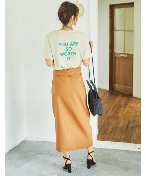 [Re:EDIT] バックメッセージロゴTシャツ2
