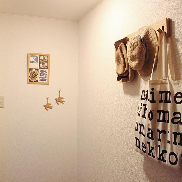 バッグ収納 無印良品 壁に付けられる家具・3連ハンガー