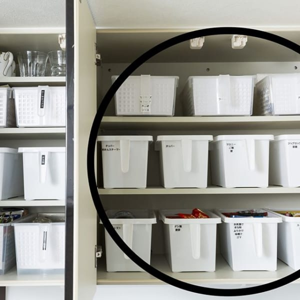 キッチン収納は買い足しやすい100均アイテムを利用