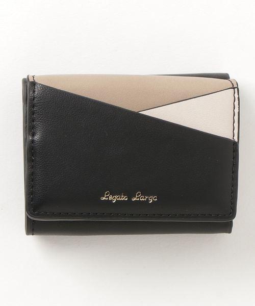 [CHAPTER WORLD] Legato Largo / カラフル3配色切り替え 三つ折ミニ財布