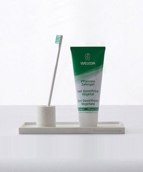 [sarasa design store] セット販売●b2c ポリレジン ミニ歯ブラシスタンド 同色2個入り