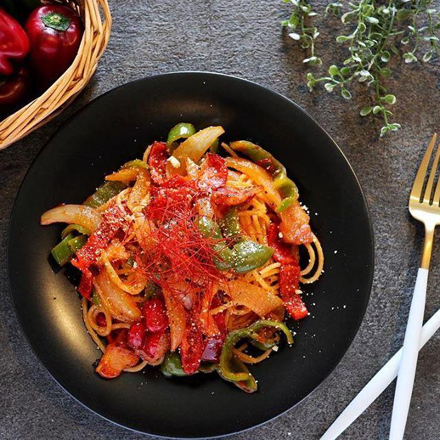 野菜 トマトソース パスタ7