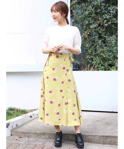 [dazzlin] フルーリールスカート