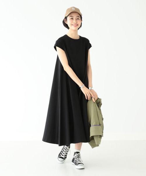 [BEAMS WOMEN] Champion / 別注 Aライン ノースリーブ ドレス