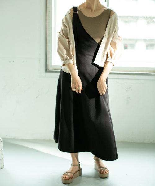 [KBF] WEB限定 ワンショルダーサロペットスカート