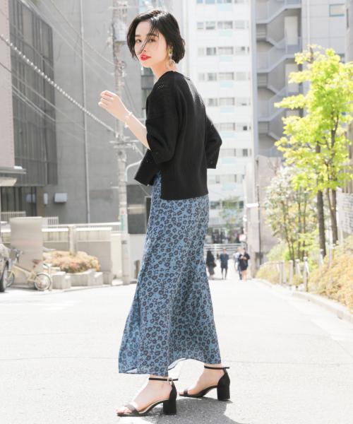 ハナクルミボタンAラインスカート