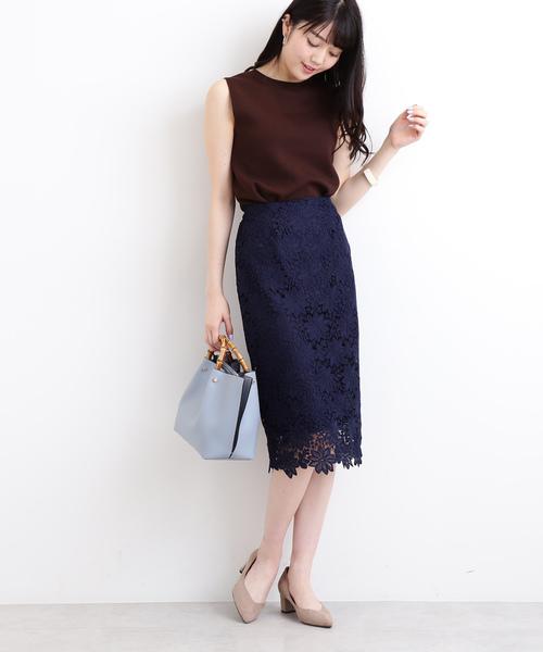 [N.(N. Natural Beauty Basic)] ケミカルレースタイトスカート
