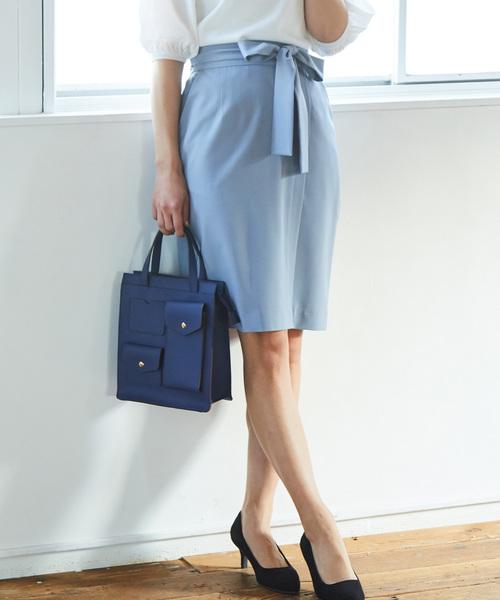 [ViS] 【ドラマ着用】ベルトラップタイトスカート