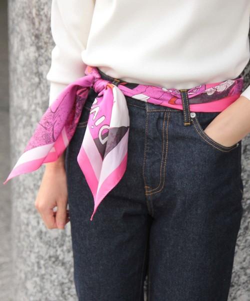ロートレック柄スカーフ