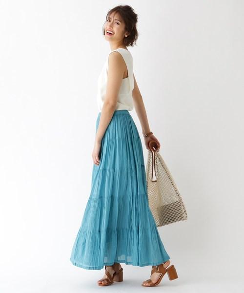 [aquagirl] ボイルティアードスカート