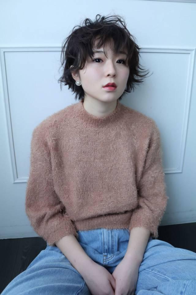 黒髪ショートボブ(大人アレンジ)18