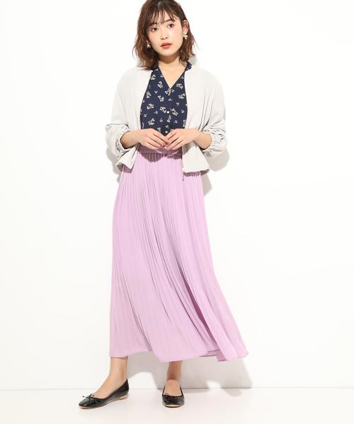 [ViS] 【美人百花5月号掲載】ジョーゼットプリーツロングスカート