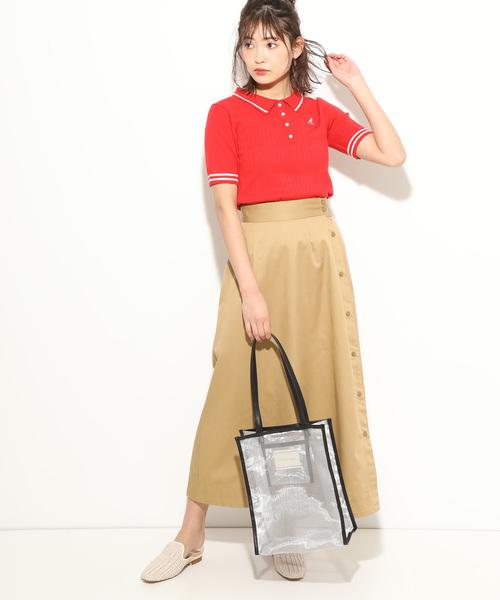[ViS] 【KANGOL×ViS】ワイドリブポロシャツ