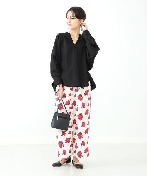 [BEAMS WOMEN] Ray BEAMS / バック ドロスト スキッパーシャツ
