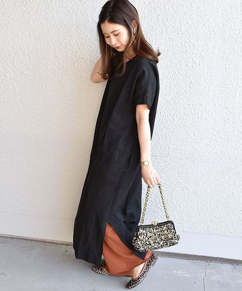 [SHIPS for women] SHIPS Days STANDARD:ソリッド ロングワンピース 19SS