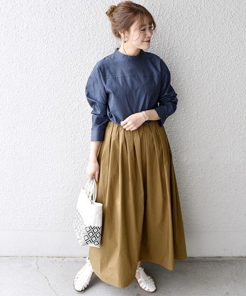 [SHIPS for women] SHIPS Days:【軽撥水加工】ロングプリーツ ギャザースカート ◆