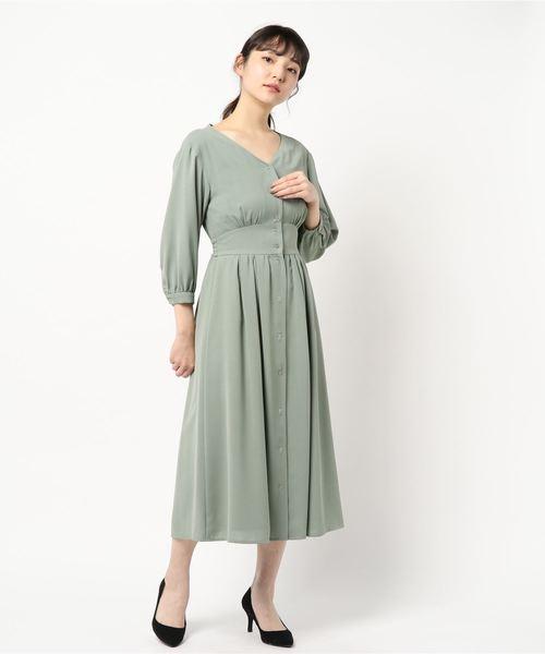 [PROPORTION BODY DRESSING] <B>Vネックシャツワンピース