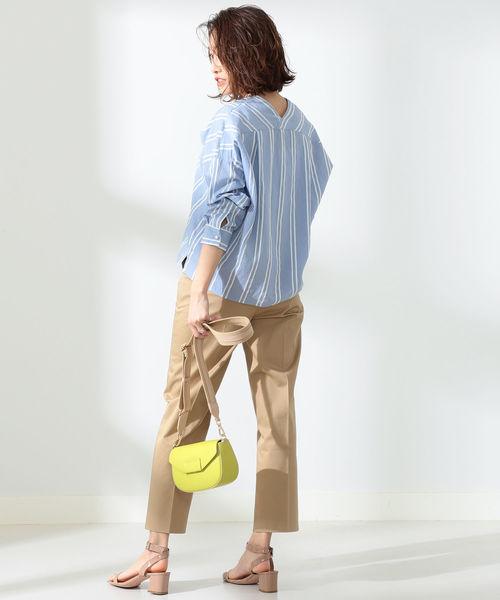 [BEAMS WOMEN] BEAMS LIGHTS / 手洗い可能 ハイウエスト センタープレス パンツ