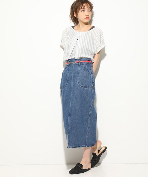 [ViS] 【Lee×ViS】デニムタイトロングスカート