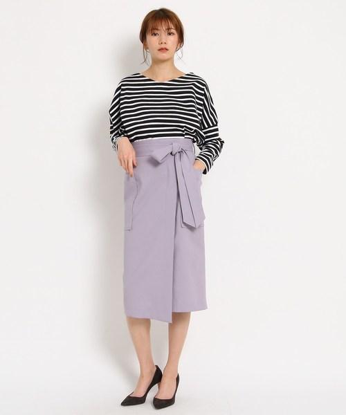 [DRESSTERIOR] 【WEB限定Lサイズあり】コットンBIGポケットラップスカート