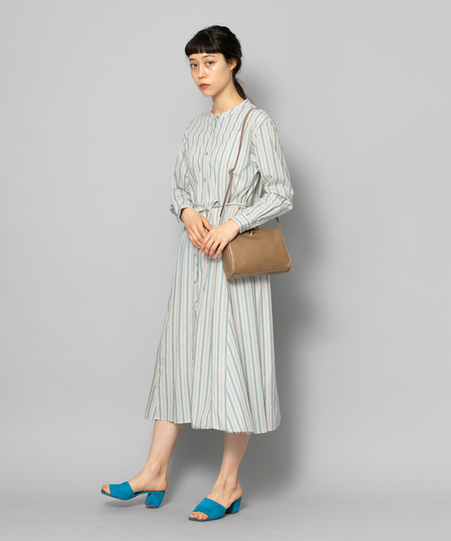 [SENSE OF PLACE by URBAN RESEARCH] 2WAYストライプロングシャツワンピース