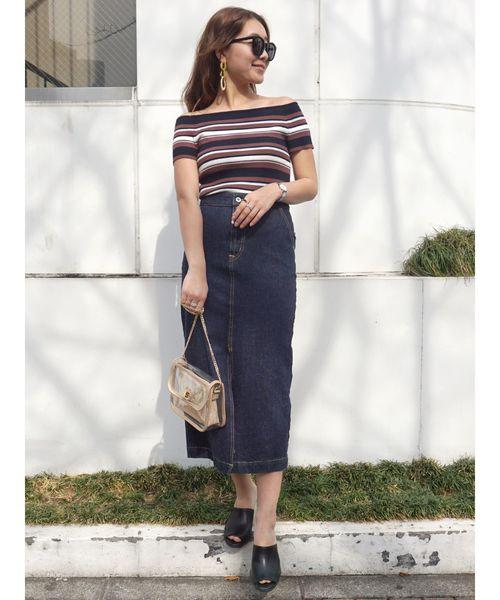 【SOMETHING×MERCURYDUO】フレンチヌーボタイトスカート