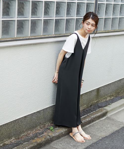[CIAOPANIC TYPY] 【2WAY】Teeシャツ付キャミサロペット