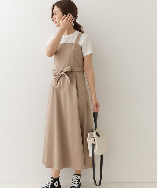 [URBAN RESEARCH DOORS] リボン付きフレアジャンパースカート