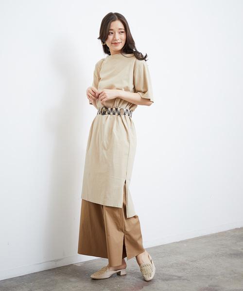 [ROPE' PICNIC] 空紡糸Tシャツワンピース