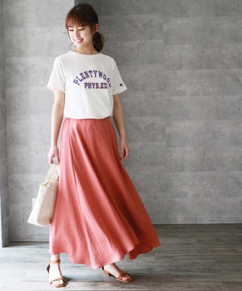 [HER CLOSET] 【HERCLOSET】フレアマキシスカート